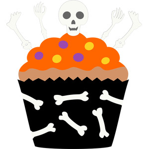 cupcake skeleton halloween