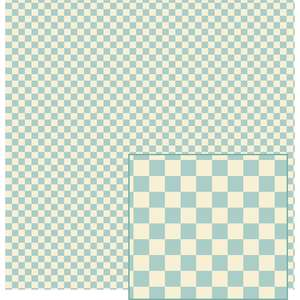 aqua and cream gingham pattern