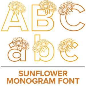 sunflower monogram