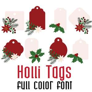 holli tags full color font