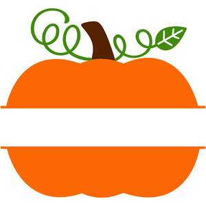 swirly pumpkin split monogram