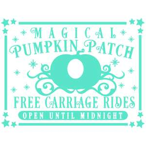 magical pumpkin patch sign