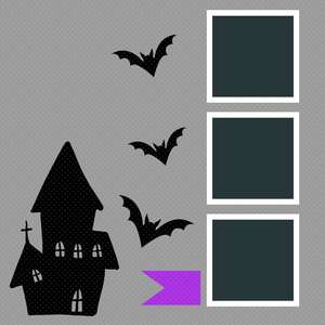 12 x 12 scrapbook layout - haunted