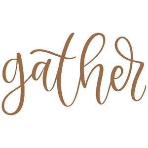 gather handlettered
