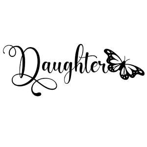 daughter butterfly word