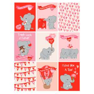 elephant valentine's day cards