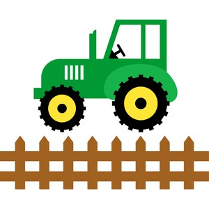 tractor and fence farm