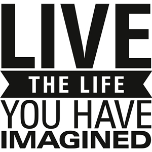 'live the life you have imagined' vinyl phrase