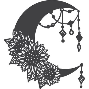 boho sunflower moon