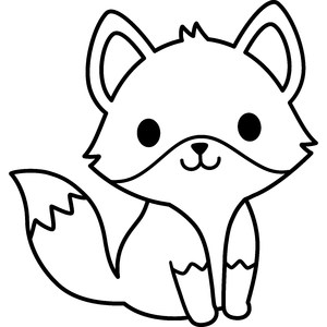 cute fox outline