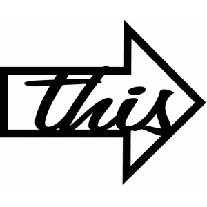 'this' word arrow