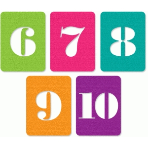 number cards 6-10