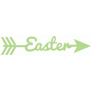 easter word arrow