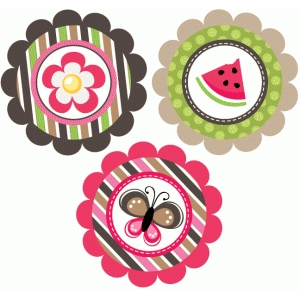 summer themed watermelon tags