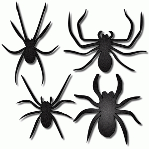 spiders – set of 4