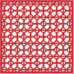 cross grid lattice