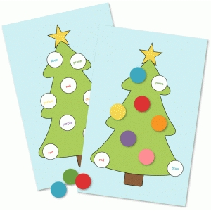 christmas tree bingo game
