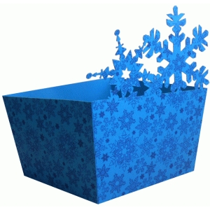 two snowflakes big candy box