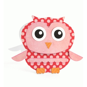 a2 owl shaped card