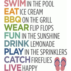 summer list - phrase