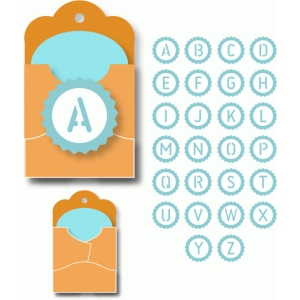 alphabet seal pocket tags