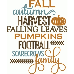 fall autumn harvest list
