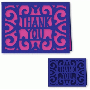 ornate thank you card a2