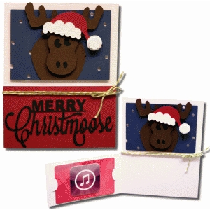 ​merry moose gift card flap card