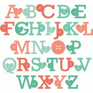 button uppercase monograms