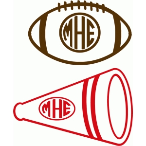 custom football & cheer monograms