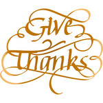 give thanks - flourished
