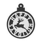 winter decor / tag - reindeer