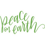 peace on earth handlettering
