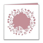 blank butterfly square card