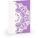 5x7 lace edge card