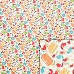 summer popsicles background paper