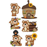 nuts about fall squirrel stickers