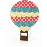 a2 hot air balloon shaped card