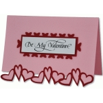 be my valentine heart border card