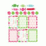 christmas candy planner stickers