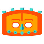 square robot mask