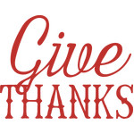 give thanks words