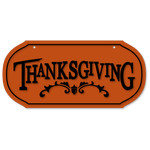 thanksgiving vinyl plaque