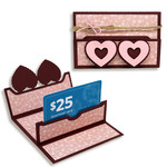 heart slip close gift card holder