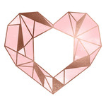 gold and pink geometric heart
