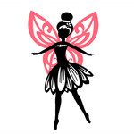 flower fairy silhouette