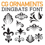 cg ornament dingbats