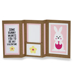 some bunny wants you to be my valentine insert multi fold card