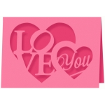'love you' card