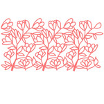 magnolia branch repeating border